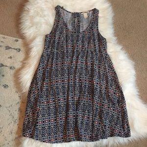 H&M Size 4 geometric tribal multi color dress